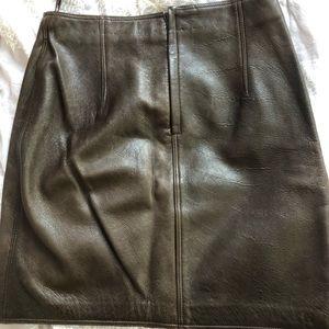 338c6303 Vintage Gianni Versace brown leather skirt